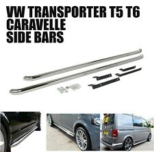 VW T5 lwb Transporter Van Caravelle Side Bars Steps Running 2003  Silver M266