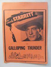 movie broadside 1946 CHARLES STARRETT in GALLOPING THUNDER