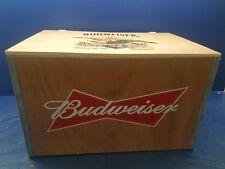 Anheuser Busch Inc Budweiser Wood Wooden Beer Crate Box