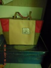 Jim Shore Purse/Tote,Jasman Color Block Embossed Leather Coral Tote only 1 left