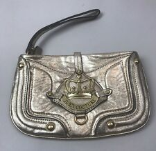NWOT Juicy Couture Gold Leather Wristlet
