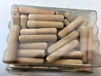 50 Tasselli in legno mm 8x40 spinatura mobili cassetti spine di giunzione