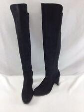 Stuart Weitzman Highline Black Suede OTK Boots Size 8.5M  H2734/