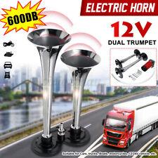 600db Super Loud Dual Trumpets Car Electric Horn For Car Truck Train Boat
