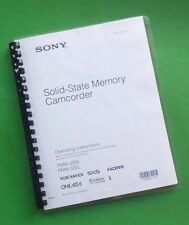 Sony PMW 320K Video Camera 171 Page LASER PRINTED Owners Manual Guide