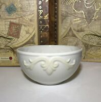 "Lenox BUTLERS Pantry GOURMET Soup Cereal Bowl 5 3/4"" Embossed LEAVES Scroll/EUC"