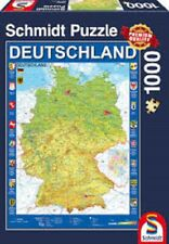 Schmidt Puzzle Map of Germany 1000 Pieces New