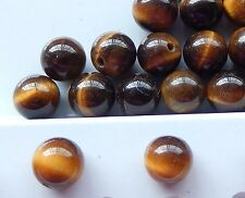 Natural Vintage Tiger's Eye Bead Earring set in 925 Sterling Post & Nut  8.3 mm