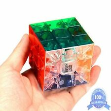 Professional Stickerless Smooth Speed Magic Cube Rubiks Puzzle Transparent 3x3x3