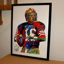 Joe Montana, San Francisco 49ers, Quarterback, Football, 18x24 POSTER w/COA 2