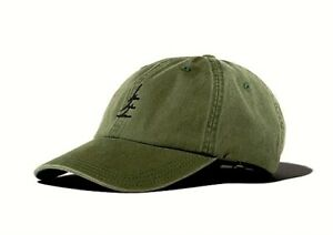 NEW PINE OUTFITTERS OLIVE GREEN STRAP BACK BASEBALL CAP HAT ONE SIZE