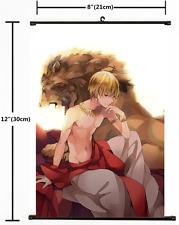 Anime Fate Zero Fate Grand Order Gilgamesh Wall Scroll Home Decor cosplay 2145