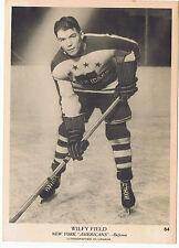 1939-40 O-Pee-Chee OPC V301-1 Wilfy Field # 64 New York Americans (5 x 7 card)