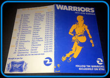 1977-78 GOLDEN STATE WARRIORS MILLER HIGH LIFE BASKETBALL POCKET SCHEDULE