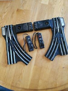 Pair Lionel 022 Remote Control O Gauge Switches w/ 2 Automatic Controllers