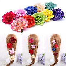 Rose Flower Hair Clip Hairpin Bridal Bridesmaid Accessories Wedding Party