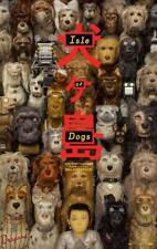 "ISLE OF DOGS - 13.5""x20"" Original Promo Movie Poster MINT Wes Anderson 2018"