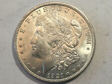 1921 Morgan Silver Dollar Date Unc from album collection ms condition m14