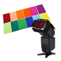 12 Square Color Filter Film Set for Canon Nikon Sony YONGNUO Flash Speedlite