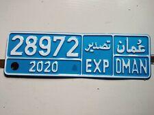 Nummernschilder Kennzeichen license plate number plate Targa Oman rare