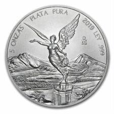 LIBERTAD - MEXICO - 2019 5 oz Silver Brilliant Uncirculated Coin  BU in CAPSULE