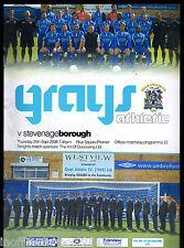 2008/09 Grays Athletic V Stevenage Borough 25-09-2008 Blue Square Premier
