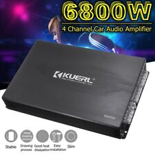 6800W 12V 4 Channel Car Amplifier Stereo Audio Super Bass Power Subwoofer Amp