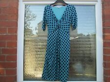 Boden Turqoise & Navy Blue Jersey Dorothy Dress 8R-.........WH763