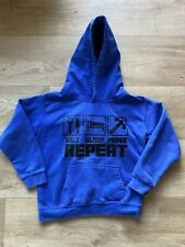 Boy Girl MINECRAFT Eat Sleep Mine Repeat Blue Hoody Hoodie Size age 7-8 Years