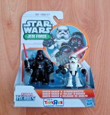 Star Wars Playskool Jedi Force DARTH VADER & STORMTROOPER Galactic Heroes TRU