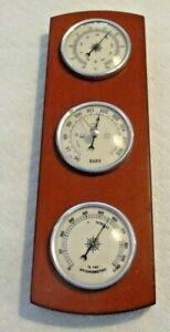 Vintage 70's Weather Station Thermometer - Barometer - Hygrometer