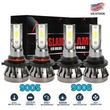 Mini 9005 + 9006 Combo LED Headlight Kit 3000W 450000LM Hi/Lo Beam Bulbs 6000K