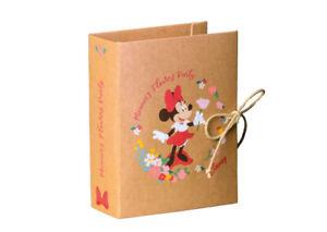 10 BOMBONIERE ASTUCCIO Scatolina porta Confetti BOOK DISNEY MINNIE FLOWERS