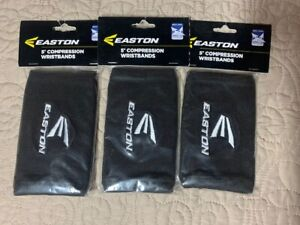 """Lot of 3 PAIR of EASTON 5"""" COMPRESSION WRIST BANDS NIP"""