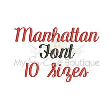 MANHATTAN ALPHABET FONT MACHINE EMBROIDERY DESIGNS - 10 SIZES - IMPFCD59