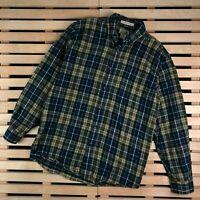 Mens Shirt LL Bean Long Sleeve Size L Cotton Check
