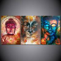 Universal Buddha Abstract 3 pcs HD Art Poster Wall Home Decor Canvas Print