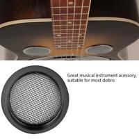 1x Black Dobro Guitar Resonator Insert Screen Speaker Grille Sound Hole Cover