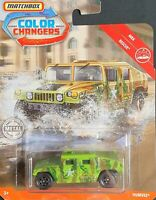 Matchbox Diecast 2019 MB1098 Color Changers MBX Rescue Humvee Green Camouflage