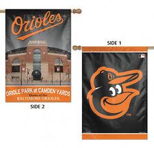"Baltimore Orioles Vertical House Flag MLB Licensed Baseball Double Sided 28""x40"""