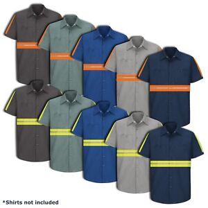 Hi Vis Enhanced Visibility Men's Work Shirt 2 Pocket Short Sleeve SEWING SERVICE
