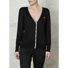 Fred Perry Amy Winehouse Fine Gauge Silk Mix Cardigan - Size 14