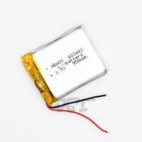 USA Stock for GPS Rechargeable Li-polymer Battery 3.7V  950 mAh  603443  2-wire
