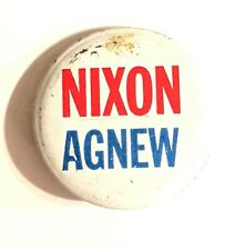 "NIXON AGNEW * Vintage Pinback Pin Badge Button 1 3/8"""