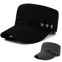 Mens Womens Plain Army Military Patrol Cadet Baseball Cap Summer Adjustable Hat