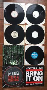 "8 Drum N Bass / Jungle 12"" Viny Records Keaton & Hive Alpha Metalheads Dillinja"