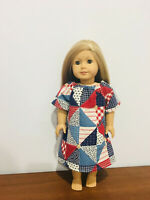 """Peasant Dress or Night Gown Fits 18"""" American girl Doll Clothes Patriotic"""