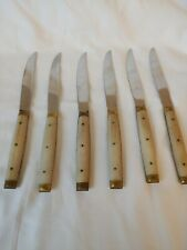Vintage Serrated Knife Set - Neiman Marcus - Made in France - 6 Piece Set
