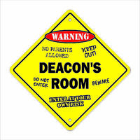 Deacon's Room Decal Crossing Xing kids bedroom door children's name boy girl