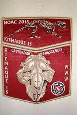 Oa Ktemaque 15 Westchester-Putnam 2-Patch Beaver Bone Red 100Th 2015 Noac Flap